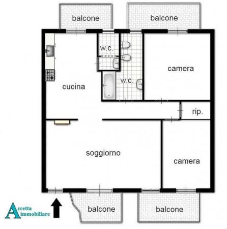 Appartamento in vendita a Taranto, Residenziale, Con giardino, 97 mq - Foto 2