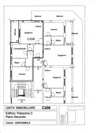 Appartamento in vendita a Pregnana Milanese, Semi-centrale, 100 mq - Foto 3