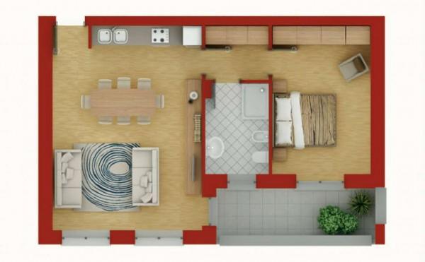 Appartamento in vendita a Pregnana Milanese, Semi Centrale, 76 mq - Foto 4