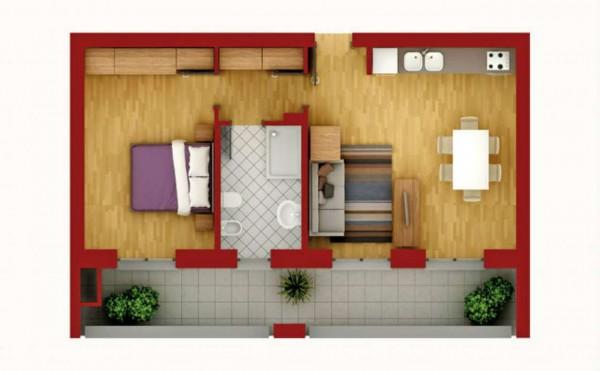 Appartamento in vendita a Pregnana Milanese, Semi Centrale, 67 mq - Foto 4