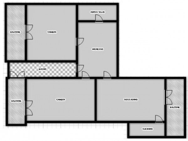Appartamento in vendita a Torino, Rebaudengo, 87 mq - Foto 2