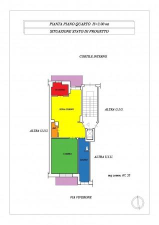 Appartamento in vendita a Torino, Vicinanze Via Giovanni Servais, 62 mq - Foto 2