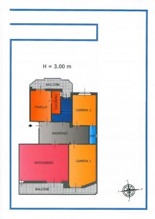 Appartamento in vendita a Torino, Martinetto, Con giardino, 145 mq - Foto 2