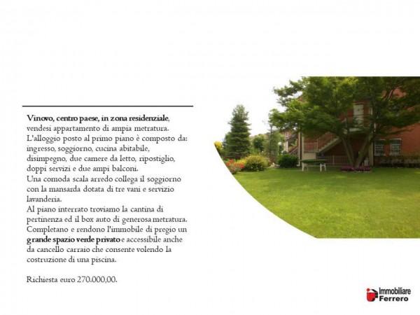 Appartamento in vendita a Vinovo, Centrale, Con giardino, 150 mq - Foto 2