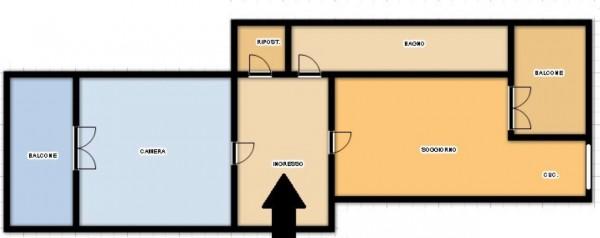 Appartamento in vendita a Torino, Barriera Di Milano, 55 mq - Foto 2