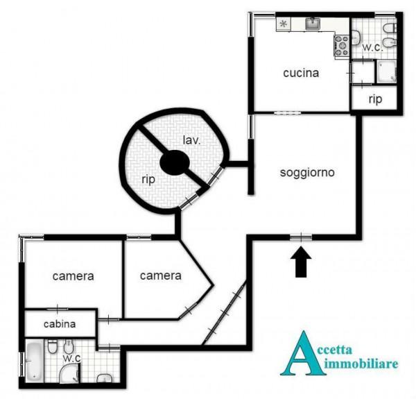 Appartamento in vendita a Taranto, Semicentrale, 115 mq - Foto 2