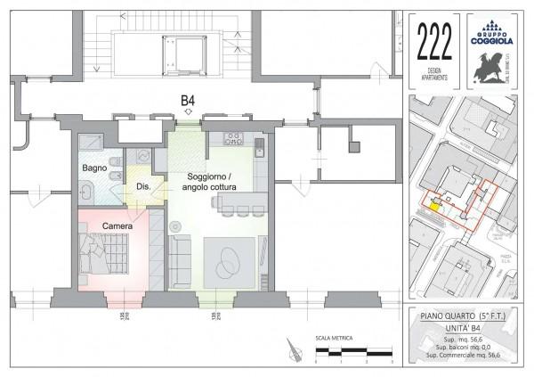 Appartamento in vendita a Torino, Arredato, 56 mq - Foto 2