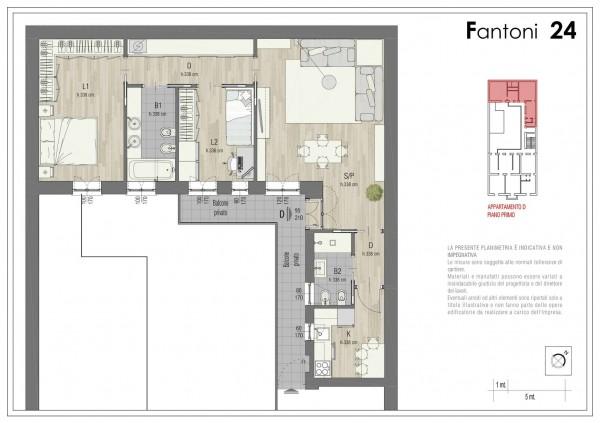 Appartamento in vendita a Milano, Via Rembrandt, 124 mq - Foto 2