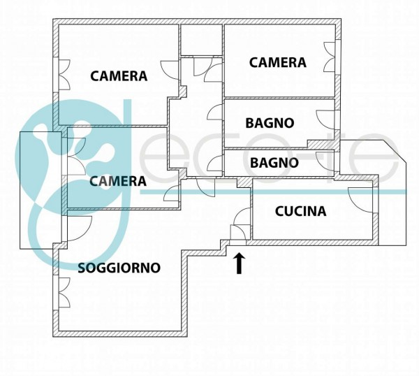 Appartamento in vendita a Milano, Vodafone Village, Con giardino, 124 mq - Foto 3