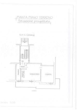 Appartamento in vendita a Vinovo, Centrale, Con giardino, 60 mq - Foto 3