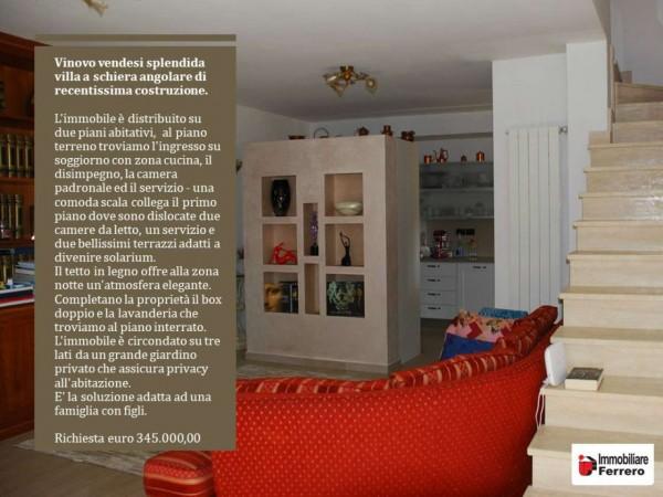 Villetta a schiera in vendita a Vinovo, Periferica, Con giardino, 127 mq - Foto 2