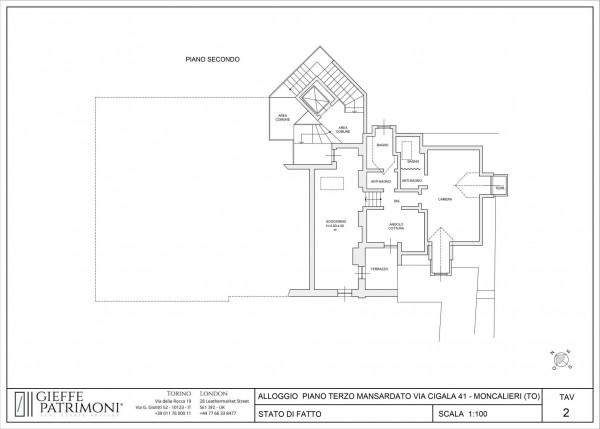 Appartamento in vendita a Moncalieri, Precollina, Con giardino, 120 mq - Foto 2