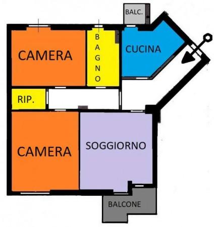 Appartamento in vendita a Desio, Stazione, Con giardino, 85 mq - Foto 2