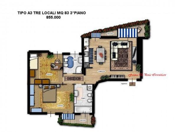 Appartamento in vendita a Milano, Moscova, Con giardino, 187 mq - Foto 7