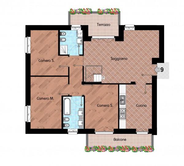 Appartamento in vendita a Cernusco sul Naviglio, Con giardino, 231 mq - Foto 3
