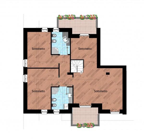 Appartamento in vendita a Cernusco sul Naviglio, Con giardino, 231 mq - Foto 2