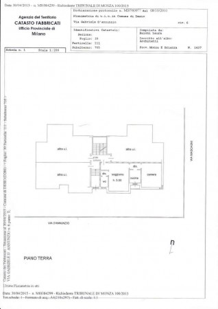 Appartamento in vendita a Desio, Zona Parco / Confine Muggio', Con giardino, 70 mq - Foto 2