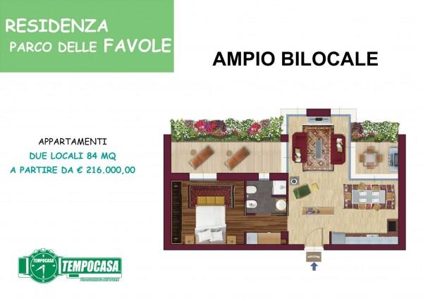 Appartamento in vendita a Milano, Affori Centro, Con giardino, 84 mq