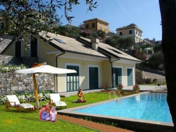 Villa in vendita a Chiavari, Sant'andrea Di Rovereto, Con giardino, 300 mq