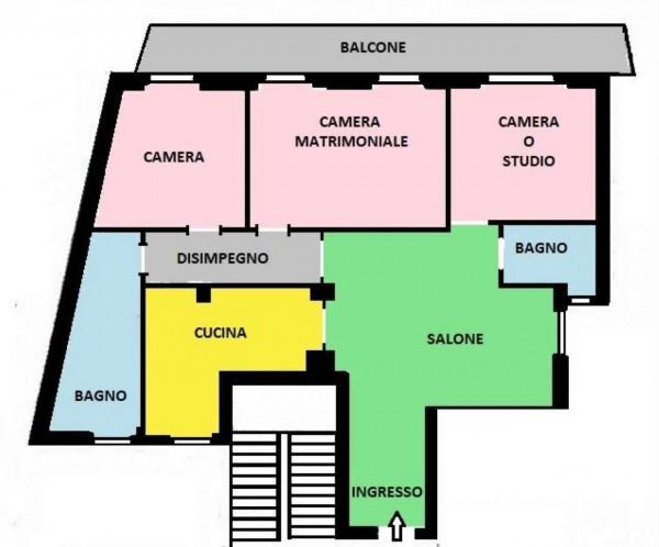 Appartamento in vendita a Monza, Centro, 140 mq - Foto 3