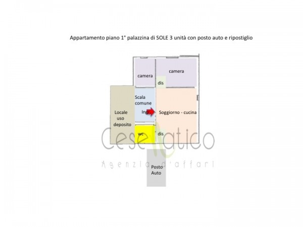 Appartamento in vendita a Cesenatico, Sorella, 72 mq - Foto 2