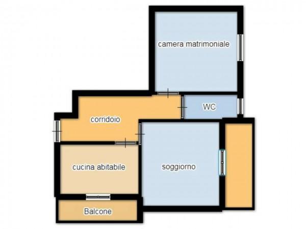 Appartamento in vendita a Senago, Conf. Cassina Nuova Di Bollate, Con giardino, 80 mq - Foto 2
