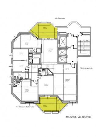 Appartamento in vendita a Milano, Pinerolo, Con giardino, 230 mq - Foto 5