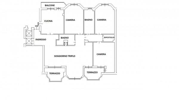 Appartamento in vendita a Milano, Con giardino, 175 mq - Foto 45