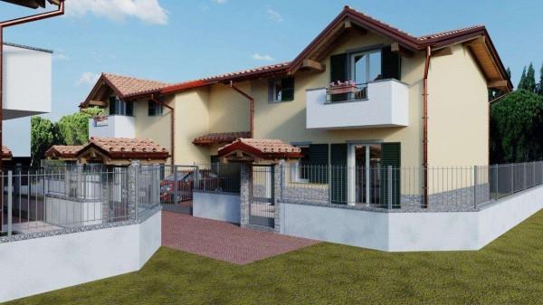 Villa in vendita a Cassano Magnago, Con giardino, 125 mq