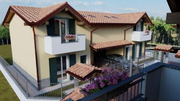 Villa in vendita a Cassano Magnago, Con giardino, 125 mq - Foto 3