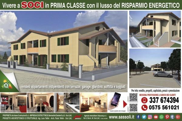 Appartamento in vendita a Bibbiena, Resididenziale, Con giardino, 119 mq - Foto 3