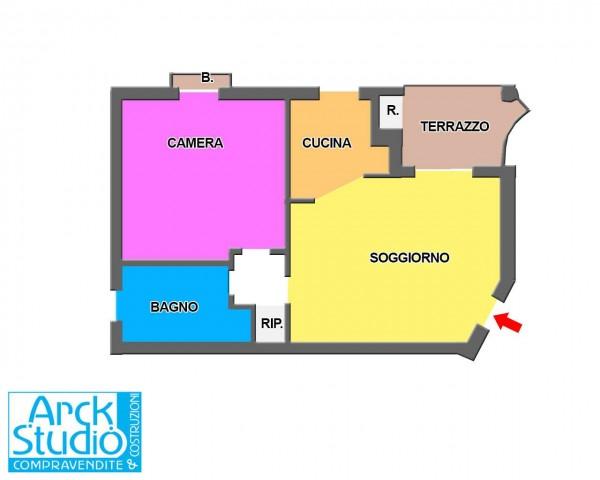 Appartamento in vendita a Pozzuolo Martesana, Campo Sportivo, Con giardino, 60 mq - Foto 3