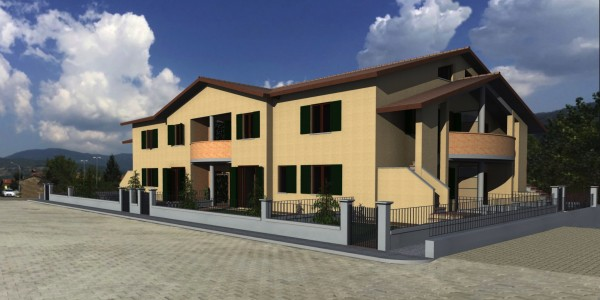 Appartamento in vendita a Bibbiena, Soci Centrale Piazza Turistica, Con giardino, 117 mq - Foto 9