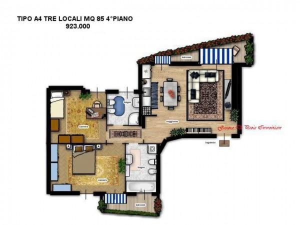 Appartamento in vendita a Milano, Moscova, Con giardino, 104 mq - Foto 6