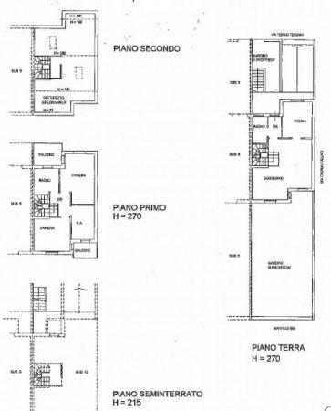 Villetta a schiera in vendita a Corbetta, Corbetta, Con giardino, 240 mq - Foto 54