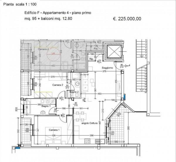 Appartamento in vendita a Caronno Pertusella, Con giardino, 103 mq - Foto 12