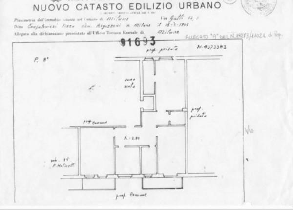 Appartamento in vendita a Milano, Gambara / Bande Nere, Con giardino, 105 mq - Foto 5