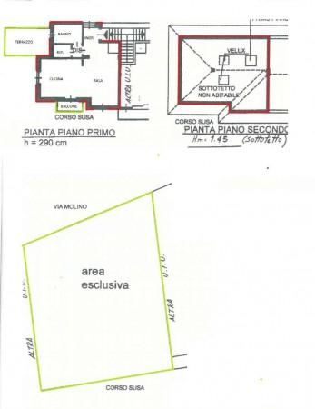 Appartamento in vendita a Caselette, Con giardino, 87 mq - Foto 3