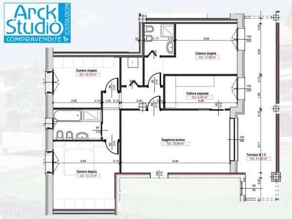 Appartamento in vendita a Cassano d'Adda, Naviglio, Con giardino, 55 mq - Foto 10