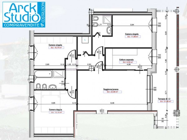 Appartamento in vendita a Cassano d'Adda, Naviglio, Con giardino, 55 mq - Foto 6