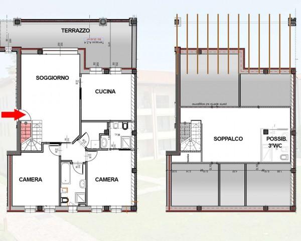 Appartamento in vendita a Cassano d'Adda, Naviglio, Con giardino, 55 mq - Foto 2