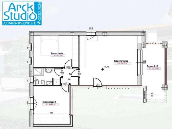 Appartamento in vendita a Cassano d'Adda, Naviglio, Con giardino, 55 mq - Foto 9