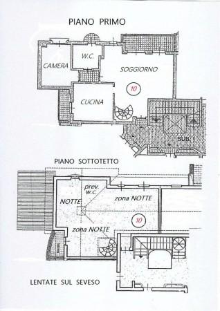 Appartamento in vendita a Lentate sul Seveso, Mucchirolo, Con giardino, 156 mq - Foto 2
