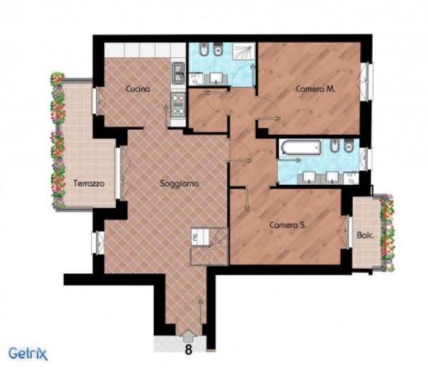 Appartamento in vendita a Cernusco sul Naviglio, Con giardino, 219 mq - Foto 20