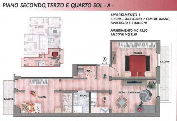 Appartamento in vendita a Firenze, 73 mq