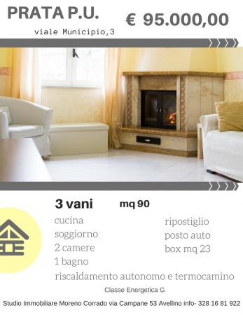 Appartamento in vendita a Prata di Principato Ultra, Vicino All Ufficio Postale, 90 mq