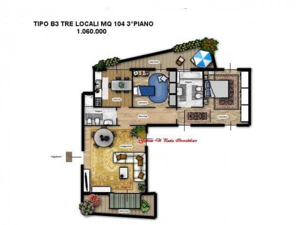 Appartamento in vendita a Milano, Moscova, Con giardino, 84 mq - Foto 6