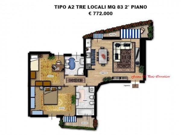 Appartamento in vendita a Milano, Moscova, Con giardino, 84 mq - Foto 2