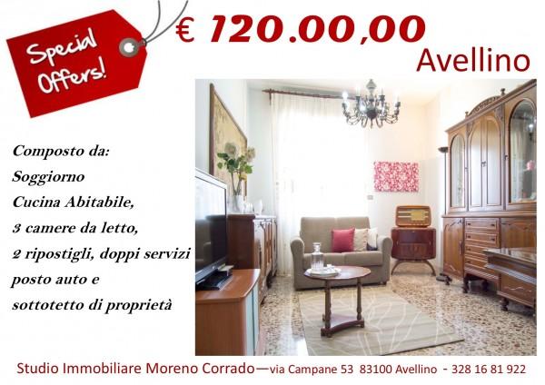 Appartamento in vendita a Avellino, Rampa Santa Maria Delle Grazie, 140 mq