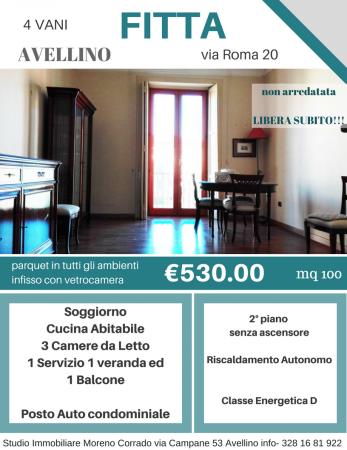 Appartamento in affitto a Avellino, Centro, 100 mq